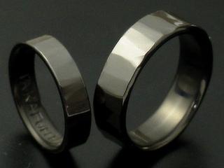 チタン黒の指輪